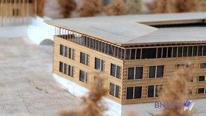 Les bâtiments du futur en miniature