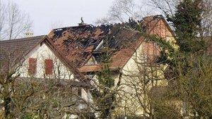 Un immeuble sous surveillance après incendie