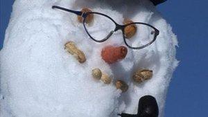 Un concours de bonhomme de neige