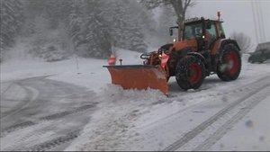 Nouveau chasse-neige aux Franches-Montagnes