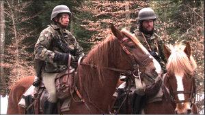L'armée suisse à cheval en Ajoie